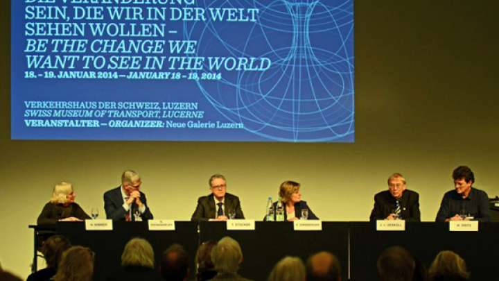 Nancy Wimmer, Marcel Brenninkmeijer, Thomas Stocker, Jakob von Uexküll, Willie Smits, Chair: Esther Girsberger