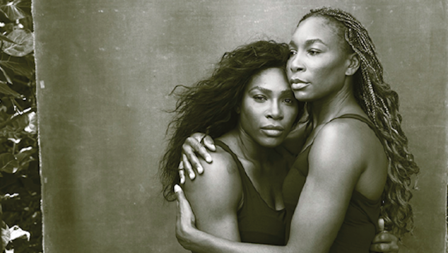 Serena and Venus Williams, Palm Beach, Florida, 2016 © Annie Leibovitz from WOMEN: New Portraits